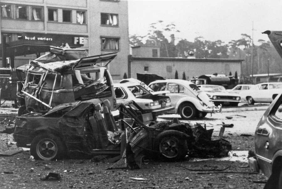 USAFE Headquarters in Germany after the 1981 RAF car bomb attack on Ramstein Air Base.