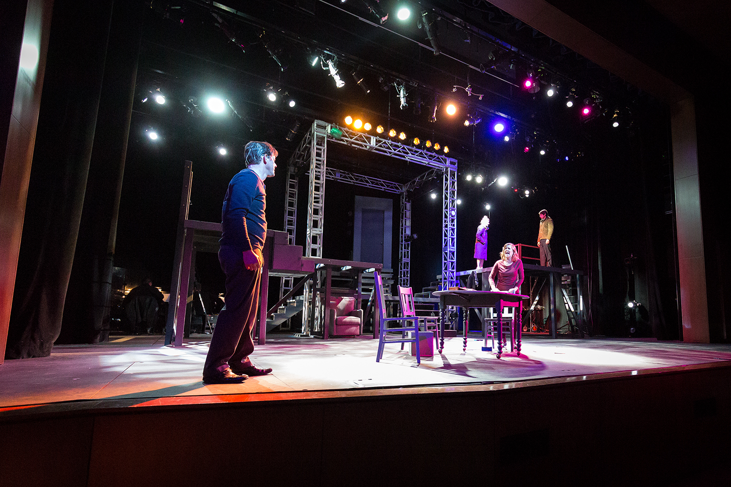 Members of the City Circle Acting Company perform in 'Next to Normal' at the Coralville Center for the Performing Arts in Coralville, IA on Thursday, Feb. 9, 2017.