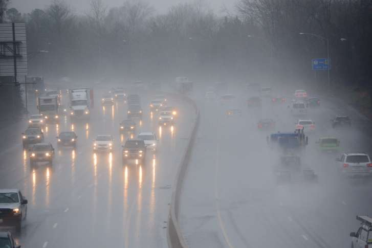 On the Beltway in the rain. Photo credit WTOP.