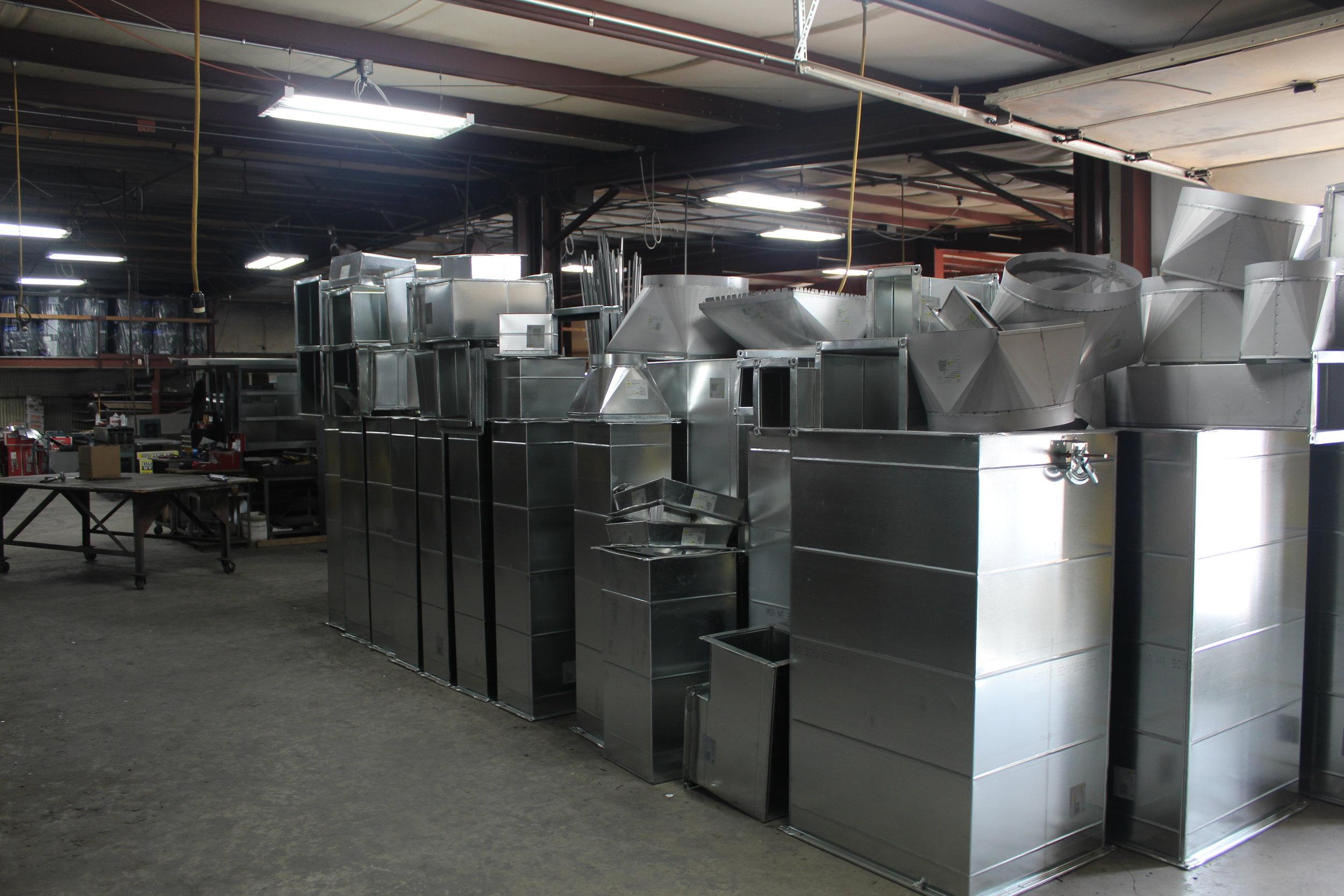 galvanized metal fabrication and installation