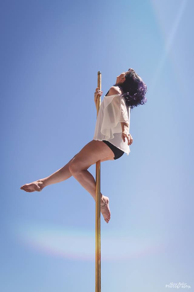 Heather Outside Pole.jpg