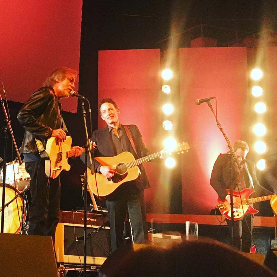 Performing with Jakob Dylan and Jackson Browne at the Echo in the Canyon premier at the LA Film Festival