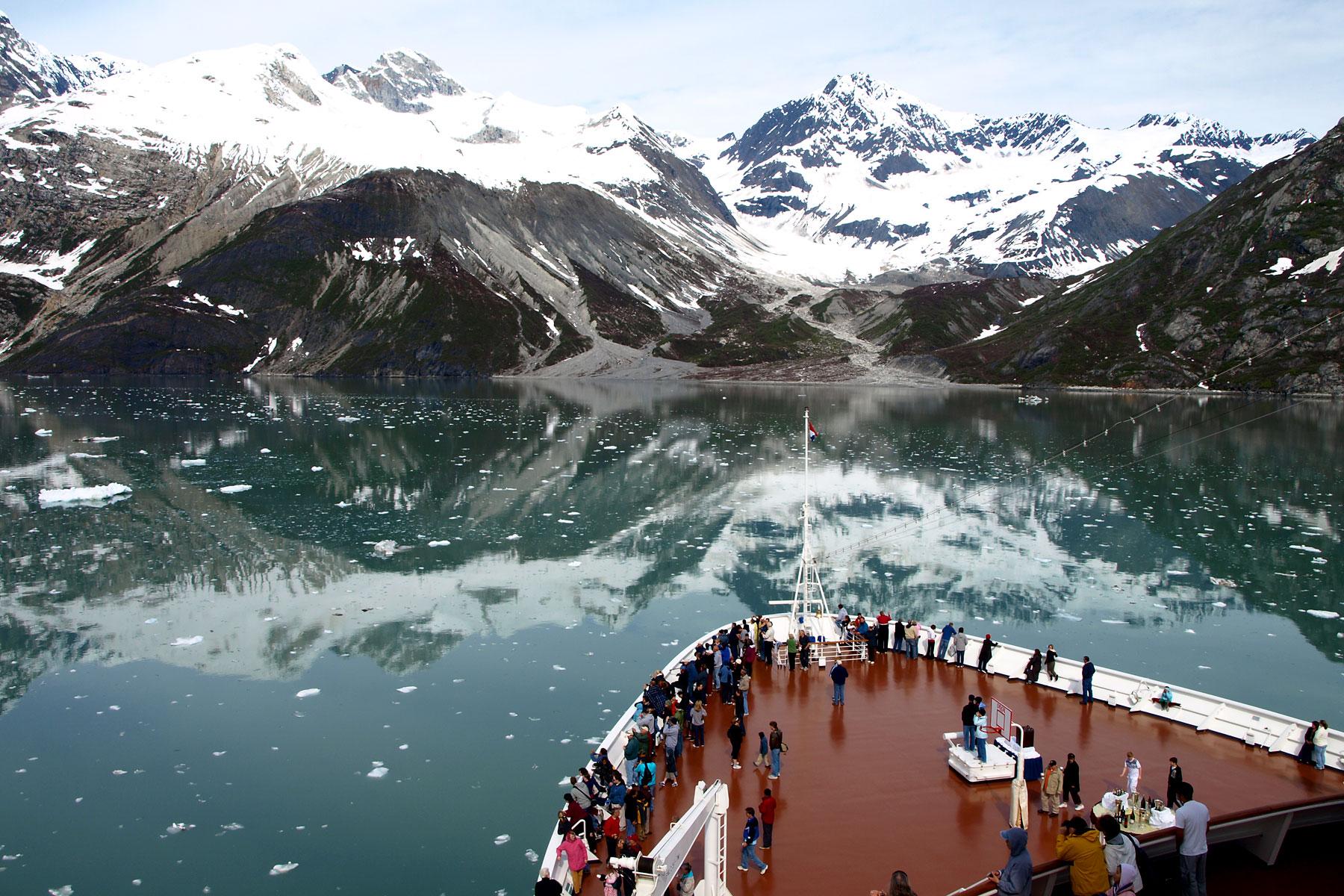 GLACIER BAY, ALASKA, from the boat.