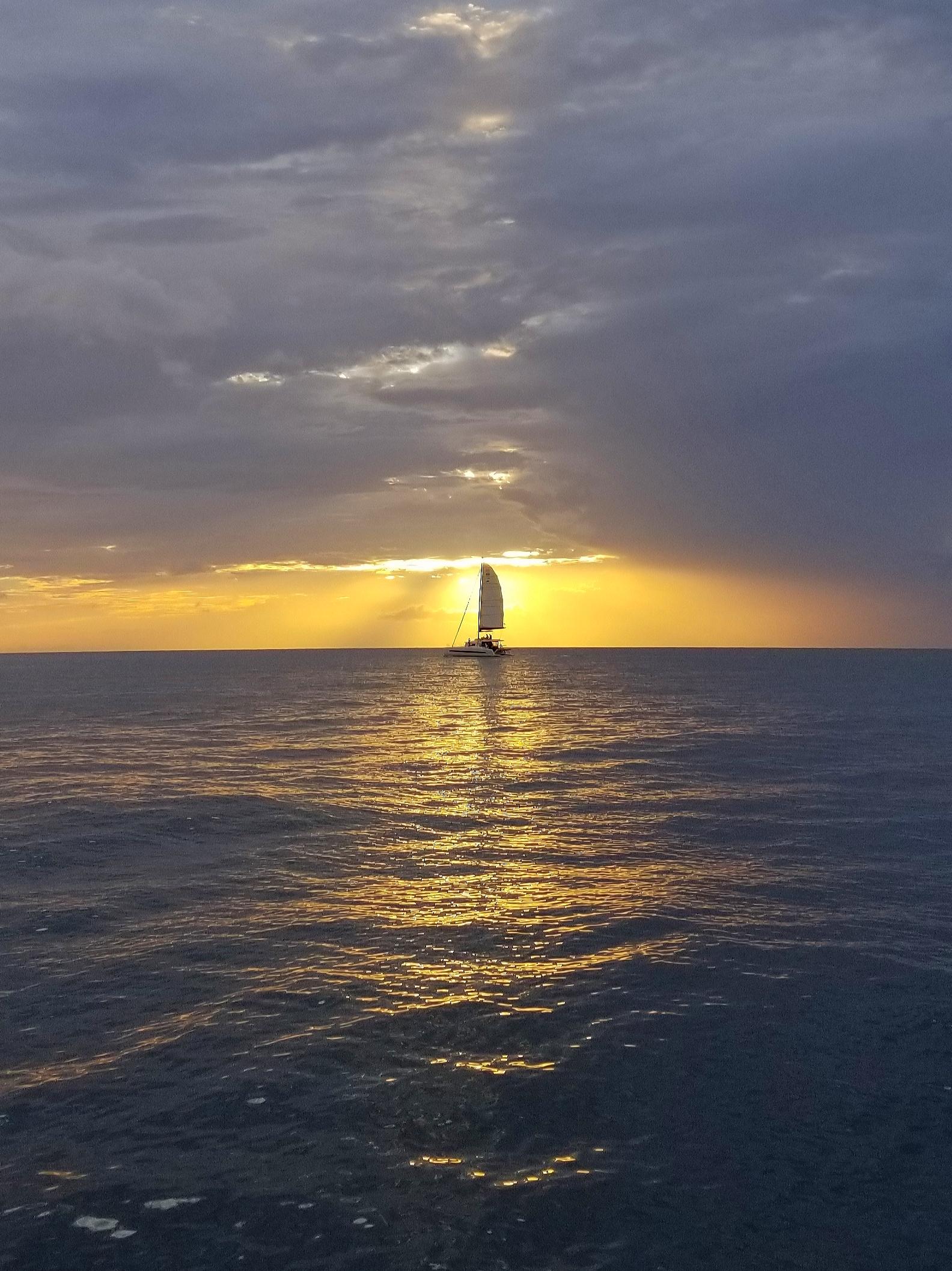 SAINT LUCIA SUNSET, the Caribbean.
