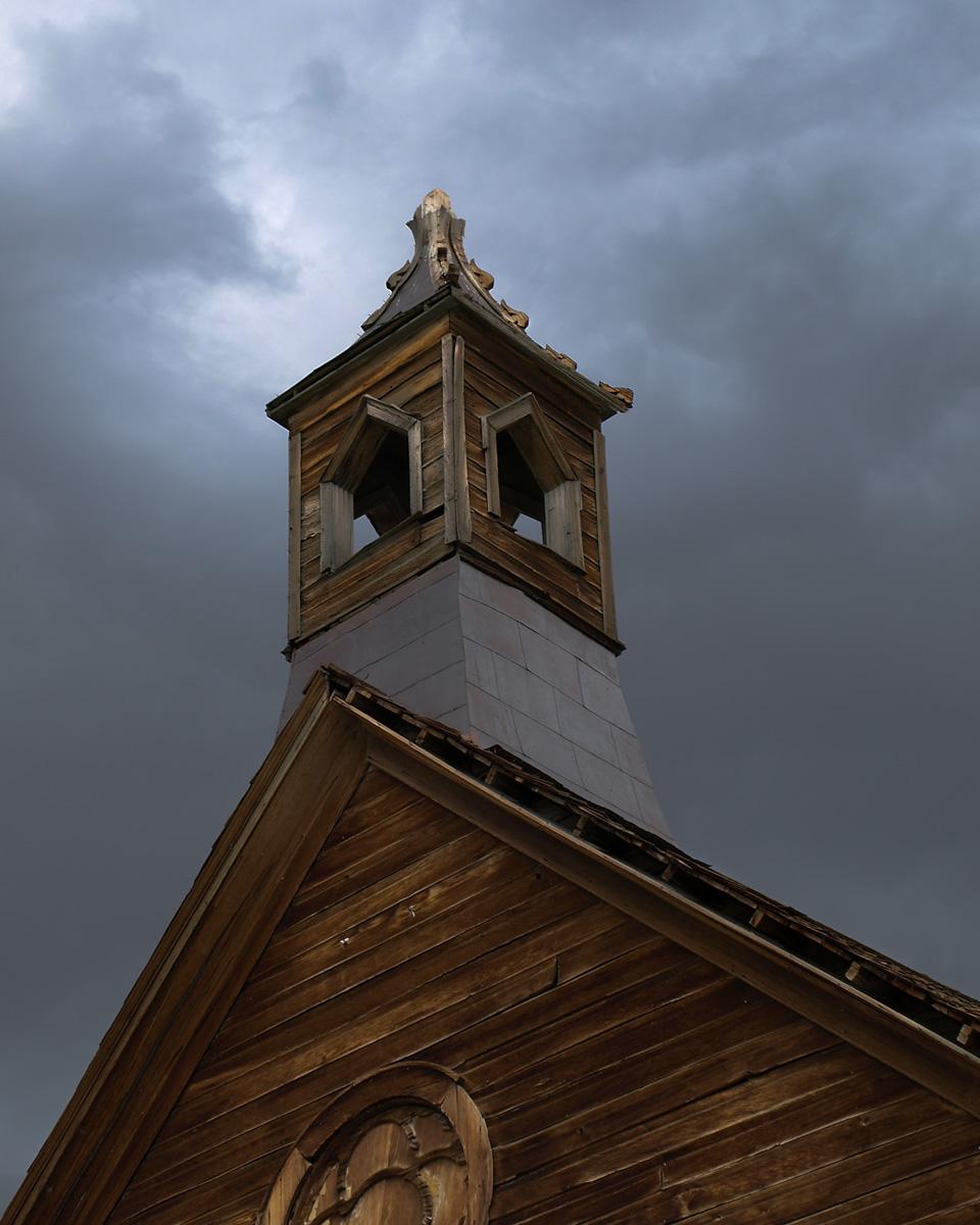 CHURCH STEEPLE, Bodie Ghost Town, California.