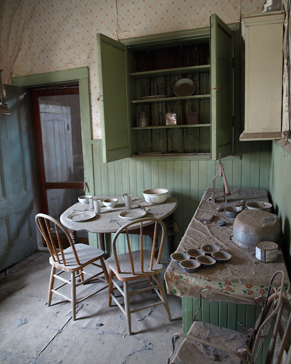 ABANDONED ROOM, Bodie Ghost Town, California.
