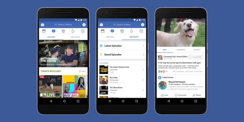 """The New Facebook """"Watch� Channel Announced This Week"""