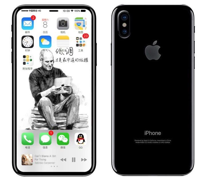 A speculative mockup of the new iPhone 8