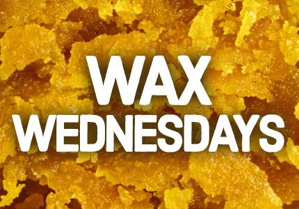 Wax Wednesday - 20% off shatter, wax, budder & diamonds
