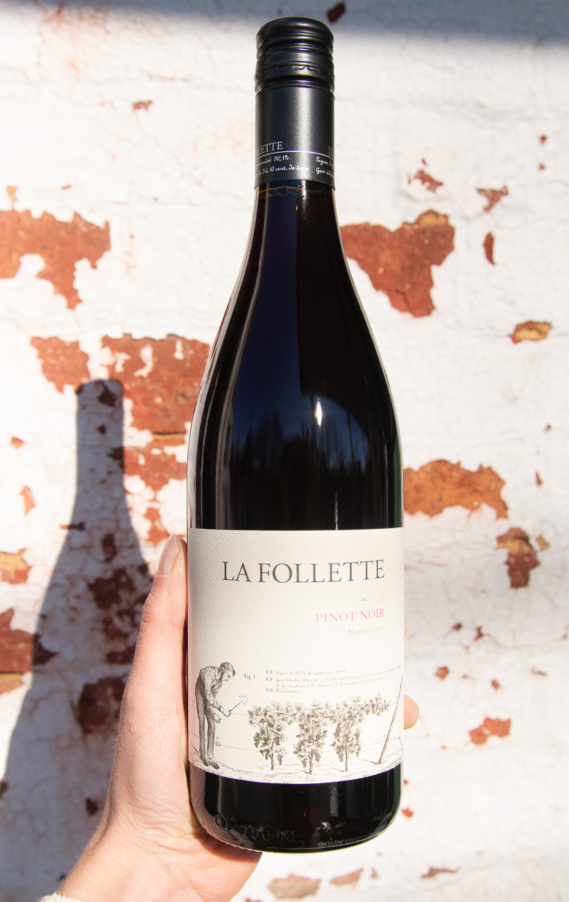 La Follette North Coast Pinot Noir 2015 - Retail: $24.95 | Sale: $21.55An exuberant bouquet of cherry, berry and cinnamon bark with a touch of forest earthiness welcome you into the glass. A silky palate offers wild strawberry notes, fresh acidity, and fine grain tannins. Juicy berry and brown spice re-emerge for a mouthwatering finish.Overall, a complete and palate-pleasing rendition of coastal Pinot Noir.100% Pinot Noir90 points, Wine Advocate