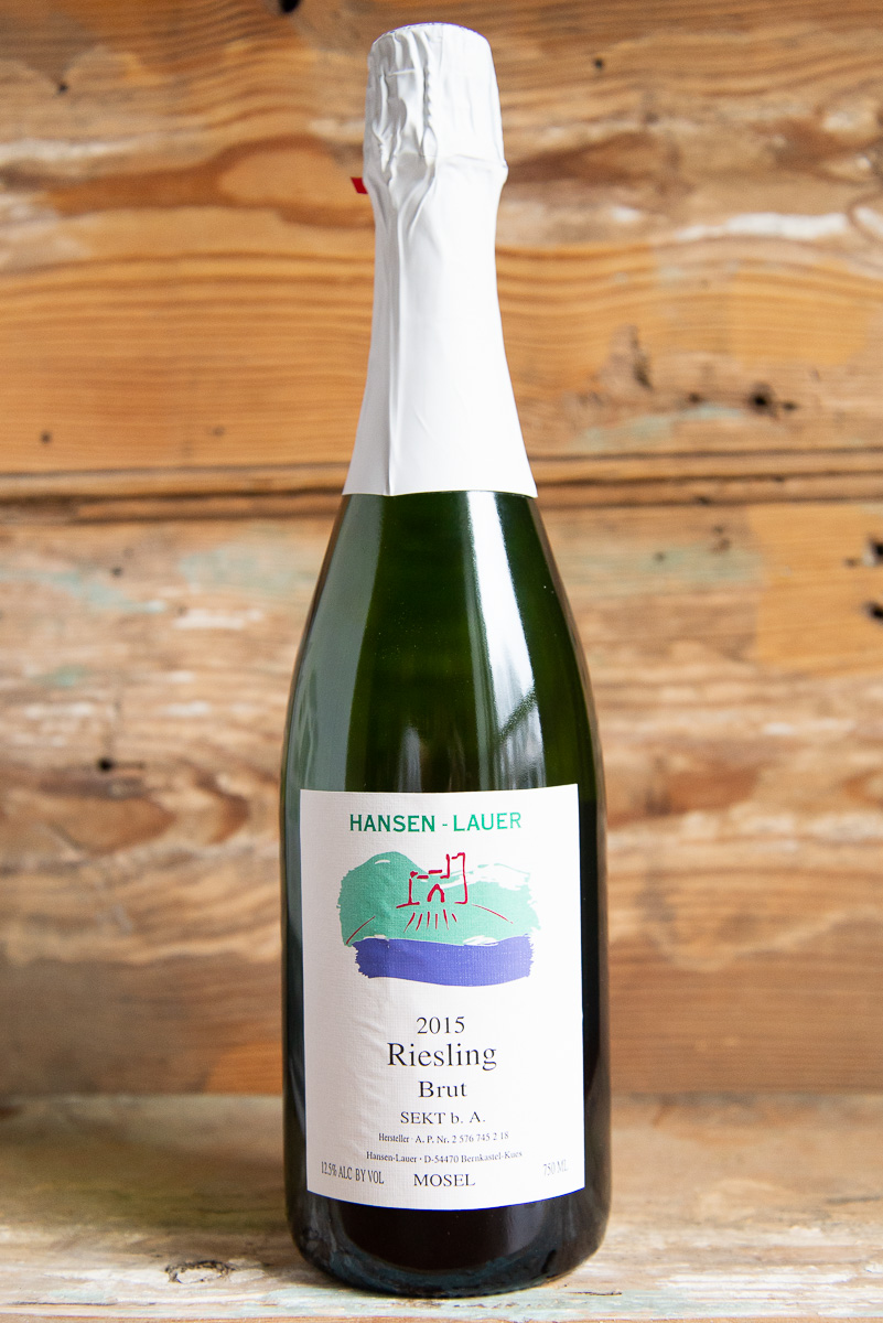 Hansen Lauer Sekt 2015 - Retail: $19.95   Sale $17.95This traditional-method Riesling sekt, made from a collection of Bernkastel vineyard sites, has been a consistent crowd pleaser from vintage to vintage. Delicate, persistent bubbles and concentrated green apple, lemon, and lime flavors. Brut in style, with revitalizing acidity and complexities of caramelized sugar and nuts.Enjoy on its own as an aperitif or with delicate food, such as lobster or scallops.100% Riesling 90 points Wine Enthusiast
