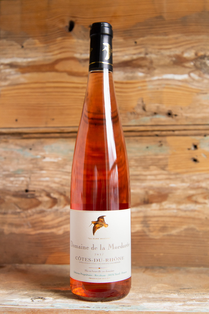 Mordorée Côtes du Rhône Rosé 2017 - Retail: $16.95   Sale $15.25Clean, crisp and lively, with gorgeous watermelon, citrus blossom, rose petal and hints of minerality all emerging from the glass, the 2015 Côtes du Rhône Rosé is fresh and lively, yet certainly doesn't lack for depth, length or flavor intensity. Medium-bodied, juicy, and crisp.60% Grenache   30% Cinsault   10% SyrahSustainable