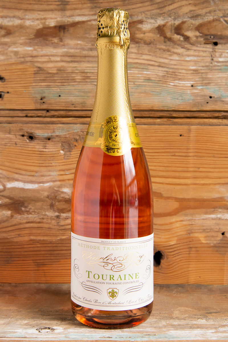 Charles Bove Touraine Brut Rose NV - Retail: $19.95 | Sale: $17.95This cuvée is made according to the Méthode Traditionnelle process. The bubbles are very fine, abundant and long-lasting in the flute. Its bouquet is very fruity with scents of cherries, fresh-baked bread, chalky soil tones, dried rose petals, and a touch of spice. On the palate the wine is crisp, full-bodied, focused, and shows fine mid-palate depth. It has bracing acids of youth, frothy mousse and very good length, with grip on the complex finish. Perfect as an aperitif, yet it is a surprisingly versatile wine that can complement many lighter style dishes such as Asian cuisine or poultry.70% Cabernet Franc, 30% Gamay
