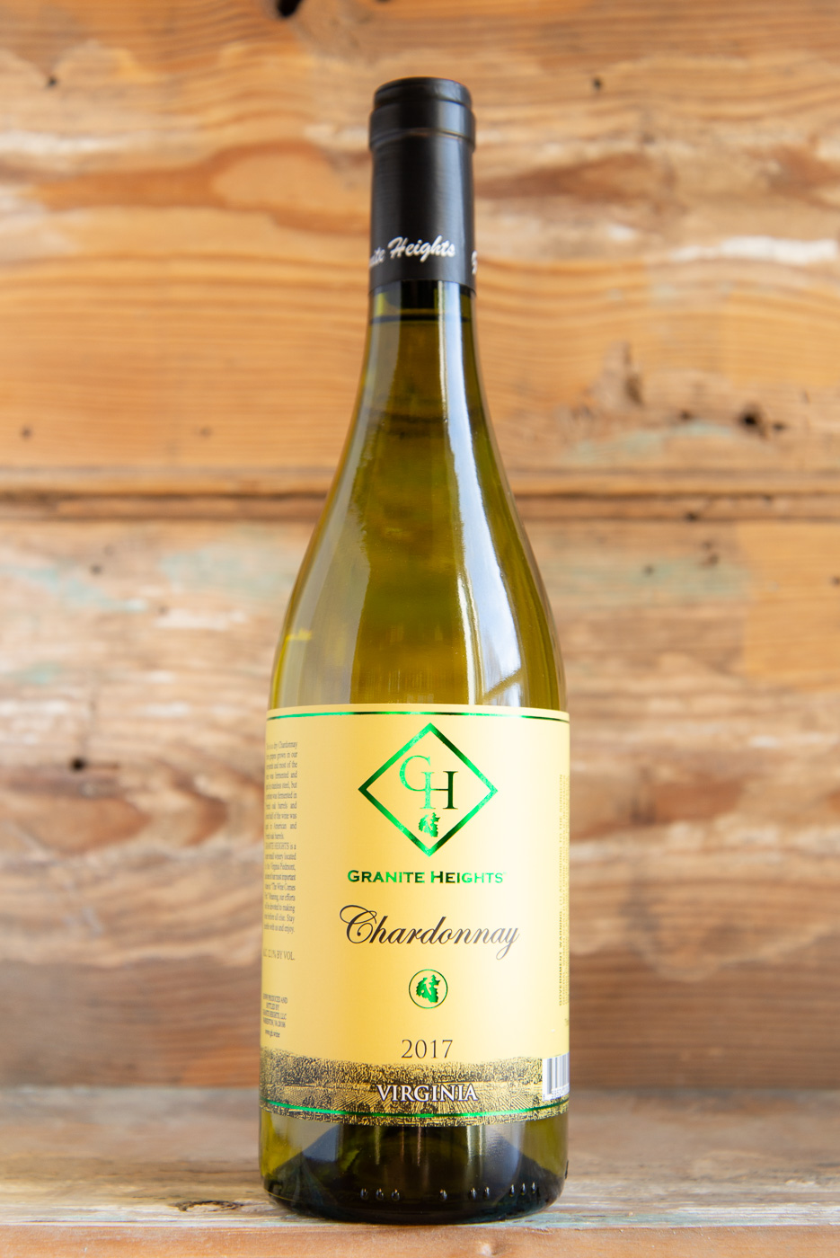Granite Heights Chardonnay 2017 - Origin: VirginiaRetail: $19.95 | Sale $17.95Granite Heights is a small, boutique winery run by husband and wife team, Luke and Toni Kilyk in Warrenton, VA. Luke and Toni do all of the vineyard work themselves, on top of both working full-time jobs. It takes endless passion, drive, and commitment to pull that off and make the quality of wines that they are producing. This estate-grown Chardonnay has just the right amount of oak influence. The result is a pleasing combination of ripe pear and apple, notes of clove and lemon zest with fresh acidity.100% Chardonnay