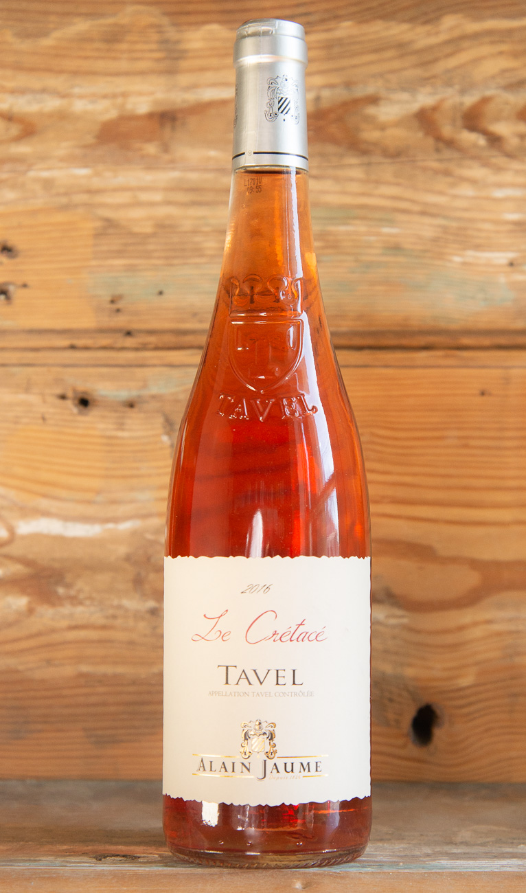 Alain Jaume Tavel Le Crétacé 2016 - Origin: FranceRetail: $19.95 | Sale: $17.95This Grenache-dominated beauty offers notes of black cherries, wild strawberries, and hints of minerals. On the palate, it is zingy with great lift, but maintains the elegant style we look for from Tavel. Red currant and cherry flavors cover the palate with hints of aniseed. The perfect level of acidity makes this a great, food-friendly rosé.60% Grenache noir |30% Syrah | 10% Mourvedre92 Points Wine Enthusiast 91 Points Jeb Dunnuck