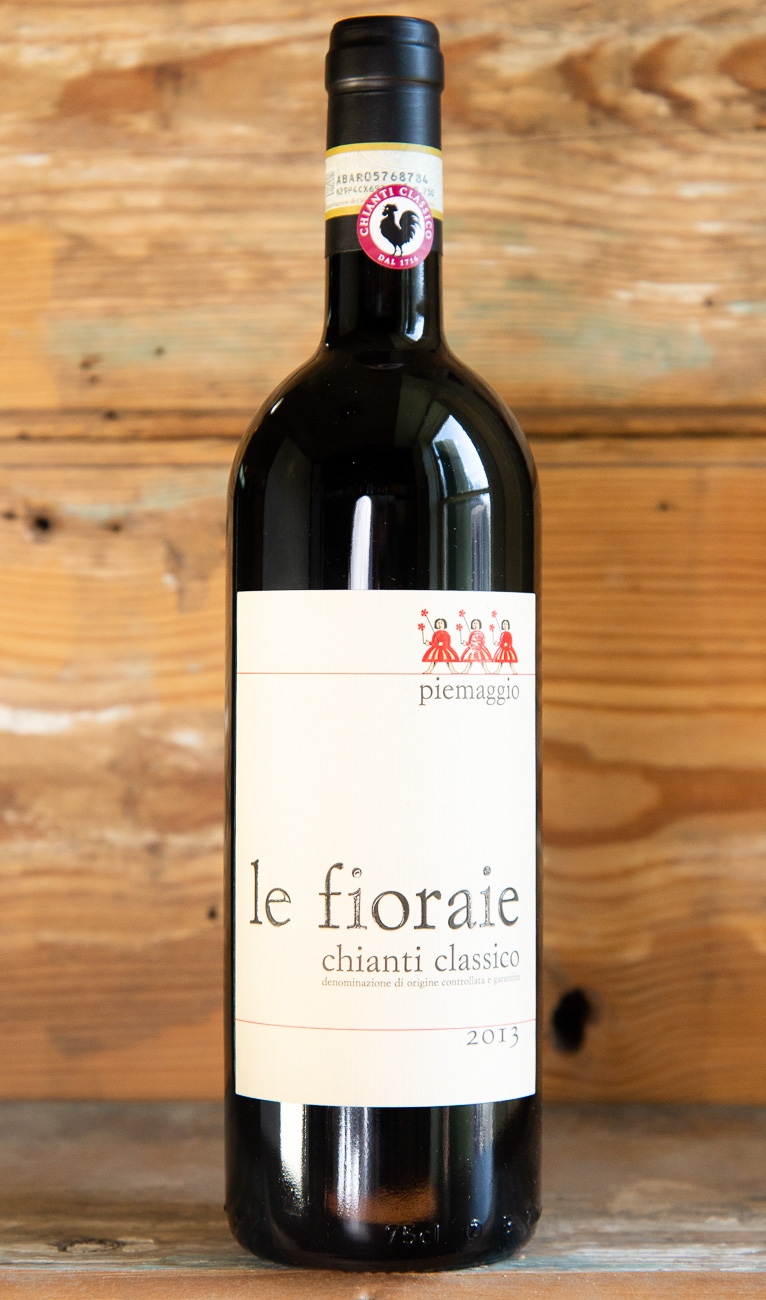 Le Fioraie Piemaggio Chianti Classico 2013 - Origin: ItalyRetail: $29.95 | Sale: $26.95The Piemaggio estate is located at Le Fioraie, a hamlet on the north-western side of the Castellina in Chianti territory, along the road to Poggibonsi, in the heart of the historical Chianti Classico. This authentic expression of a Chianti Classico has an intense ruby color in the glass with burgundy reflections of age. The nose is dominated by pleasant notes of violets and dry cherry. The palate is medium-bodied with an excellent core of tart fruit and earthiness that provides plenty of dimension.90% Sangiovese | 10% Colorino, Canaiolo & CiliegioloSustainable