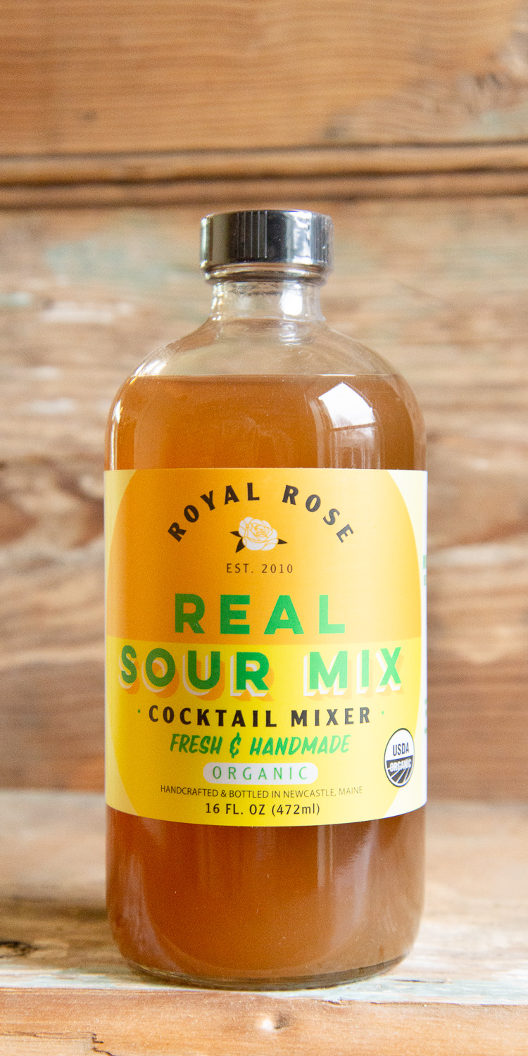 Royal Rose Sour Cocktail Mix - Origin: MaineRetail: $17.95 | Sale: $16.15Fresh, organic lemon and lime juices, organic cane sugar, and water...that's it! Making a margarita, Collins, homemade lemonade, and more has never been this easy. Absolutely the best sour mix available.ORGANIC