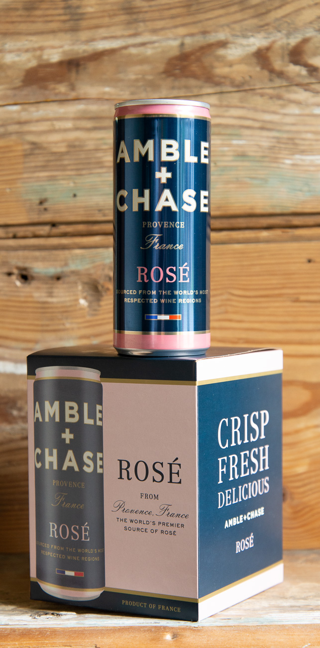 Amble & Chase Rosé - Origin: France4-Pack: $21.95 | Sale: $19.75Single: $5.95 | Sale: $5.35The name Amble & Chase pays homage to the winemaking process. During a long growing season, the winemaker will