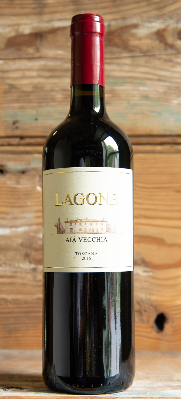 Aia Vecchia Lagone Toscana 2016 - Origin: ItalyRetail: $18.95 | Sale: $17.05Aia Vecchia, the name of an old building situated in the Tuscan countryside, is the center of this winery today. The particularly favorable microclimate and ideally-suited soils of this area make the production of high-quality wines possible. On the nose, this wine is delicate with notes of cherry, vanilla and herbs. The palate is structured and elegant with flavors of plum, ripe cherries, wild berries and a hint of spice, followed by a lengthy and smooth finish that begs for food. This wine is very versatile and would pair well with both red and white meats, various pasta dishes and hard cheeses.60% Merlot | 30% Cabernet Sauvignon | 10% Cabernet Franc