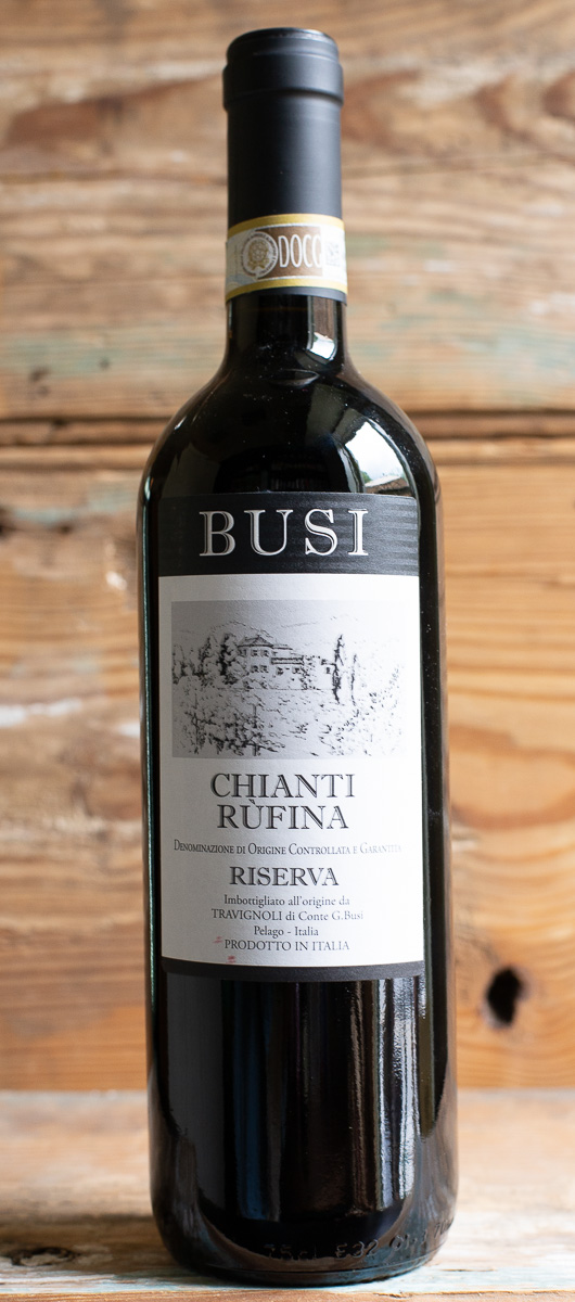 Busi Chianti Rufina Riserva 2014 - Origin: ItalyRetail: $21.95 | Sale: $19.75The winery was founded in the 1700s and has been operated by the Busi family since the 1800s. Grapes have been grown on the property since the 1400s. Spending 20 months in oak, this Chianti Riserva features a balanced profile of black cherry, earth, tar, and bitter almond flavors backed by a firm structure. This authentic taste of Tuscany is the ultimate expression of Italian hospitality, whether shared between friends or paired with special occasion dishes.100% Sangiovese Sustainable.