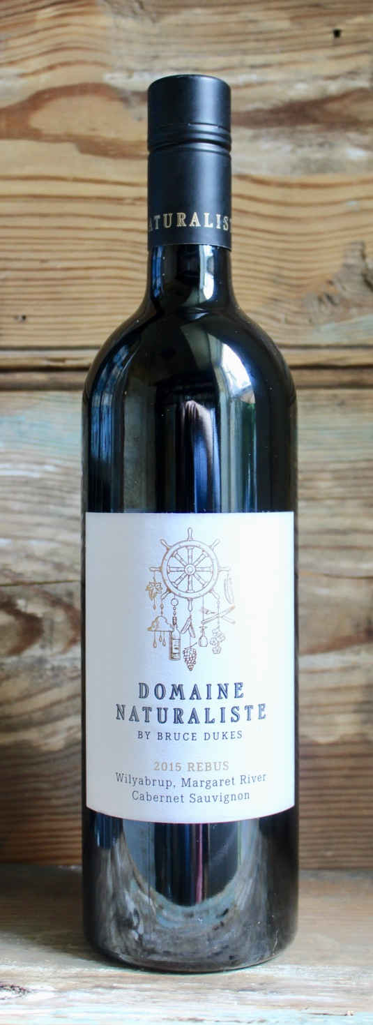 Domaine Naturaliste Rebus Cabernet Sauvignon 2015 - Origin: AustraliaRetail: $29.95 | Sale: $26.95Domaine Naturaliste Vineyard is located in the heart of the Wilyabrup sub-region of Margaret River in Western Australia. The Rebus Cabernet Sauvignon has an intricate tapestry of glazed cherries, violets and graphite, deftly woven into a palate laden with flavors of red currants, cacao nib and plum skin. Bristling tannin on the entry and a core of licorice, black berries and slate, finish with a persistent and ever-changing mineral finish.100% Cabernet Sauvignon