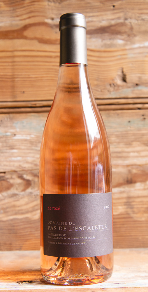 Le Pas De L'Escalette Ze Rosé 2018 - Origin: FranceRetail: $19.95 | Sale: $17.95Before establishing Pas de l'Escalette, Julien Zernott went to wine school in Dijon and acquired most of his work experience with Domaine Henry Pellé for five years. Today Julien and his wife, Delphine Rousseau, craft some of the most precise and unexpectedly elegant, organic and biodynamically farmed wines in the Languedoc. The 2018 Ze Rozé from Escalette was crafted using some of the better parcels that are typically used for their red wines. The result is a rosé with even more complexity than usual due to the superior quality of the vineyards that make up this year's final blend. It's more textured and supple than usual but still maintains exceptional natural acidity making this vintage, in the owner's words, the best rosé they've made!50% Grenache | 30% Cinsault | 20% CarignanBiodyanamic