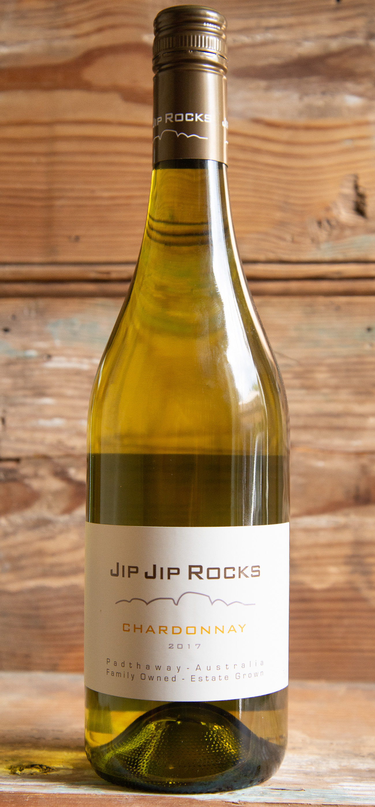Jip Jip Rocks Chardonnay 2017 - Origin: Australia Retail: $14.95 | Sale: $13.45This family-owned vineyard is located in the Padthaway valley within South Australia's Limestone Coast wine region. This Australian un-oaked chardonnay presents a beautiful light yellow with a pale straw hue. A classic nose of lemon, fresh stone fruit and melon are followed by a clean, fresh palate with hints of ripe pineapple and lime. This wine will age beautifully over the next 4-5 years.100% Chardonnay.Sustainable.90 points Robert Parker's Wine Advocate.