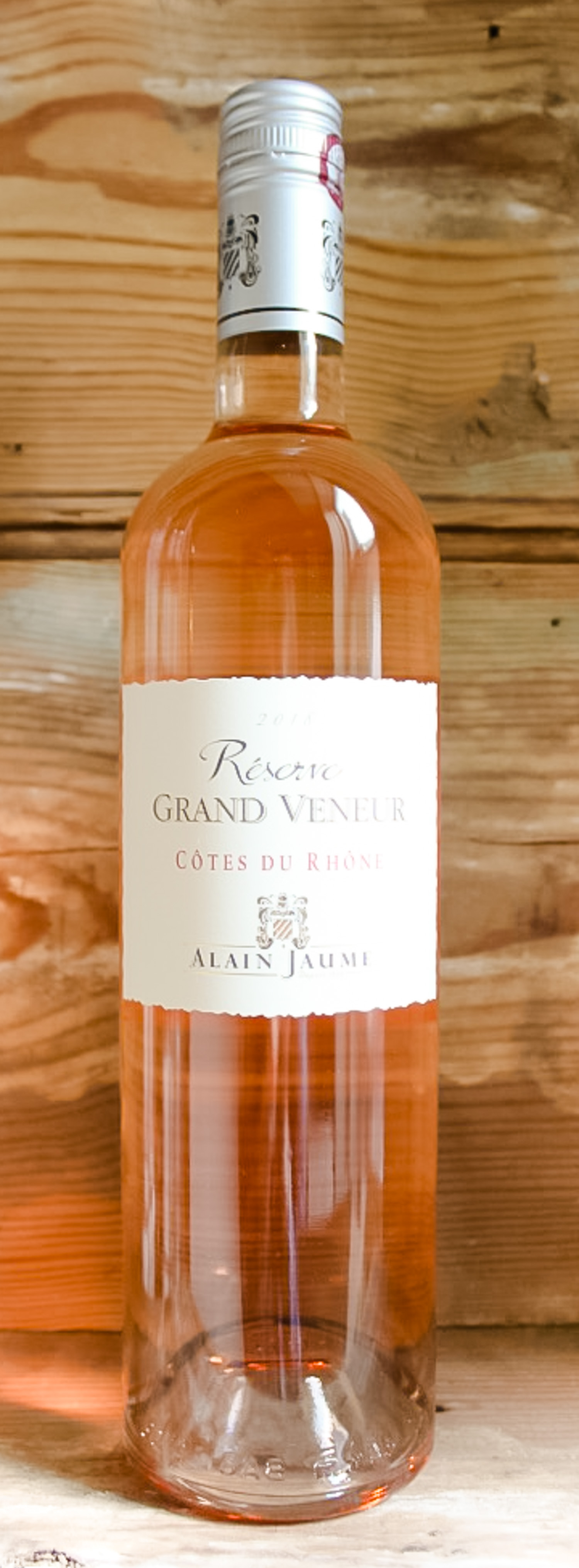 Grand Veneur Côtes du Rhône Rosé 2018 - Origin: FranceRetail: $13.95 | Sale: $12.55Established in the northern part of Châteauneuf-du-Pape, the Jaume family has been making wine since 1826 when Mathieu Jaume started harvesting grapes. This beautiful and delicate rosé is a great example from the Rhone with a nose riddled with wild strawberry and fine Provençal spices. The palate is well-balanced with a long, fresh finish. As you sip, feel as though you're strolling through a Provençal town on market day, drinking in the sights and smells of fresh strawberries, raspberries and wildflowers.Grenache | Syrah | MourvèdreOrganic.