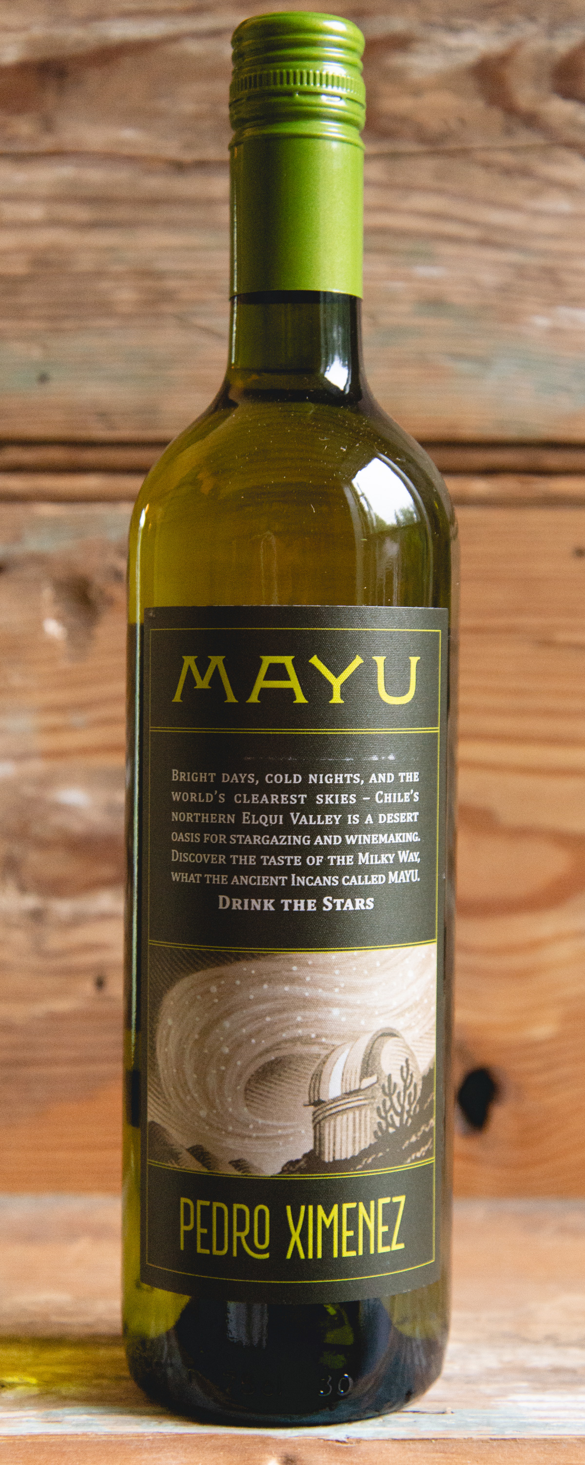 Mayu Pedro Ximénez 2017 - Origin: ChileRetail: $16.95   Sale: $15.25The Olivier family started Viña Mayu in 2005 and were the first to bring winemaking to the Elqui Valley. This desert of Chile is known for some of the best stargazing in the world, as well as a perfect place to grow grapes with its warm days, cool nights and a touch of the salty ocean breeze. This single-vineyard, old vine, dry PX from one of Chile's highest elevation vineyards is a must-have for the summer. It's a stylish white wine that offers appealing floral and fruit aromas, with flavors balanced by fresh acidity, minerality and a long finish. It is best served with a range of foods, especially shellfish and other seafood.Pedro Ximénez