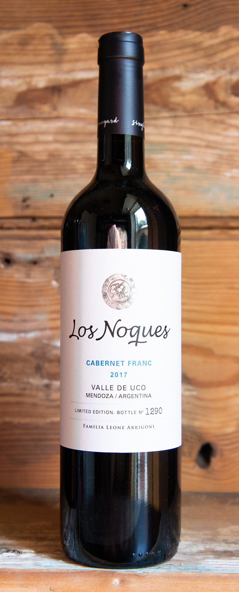 Los Noques Cabernet Franc Reserve 2018 - Origin: ArgentinaRetail: $19.95 | Sale $17.95Grapes for this Cabernet Franc come from an exclusive 5-acre lot situated in the Tupungato Valley. This micro climate is particularly good for this grape varietal. Aged in mostly French oak, the wine presents typical aromas of the variety and terroir, such as black pepper, spices, and figs. The palate has a good amount of structure with notes of caramel, vanilla, and coffee, finishing fresh and juicy. Particularly good to drink with a white meat or strong fish.Cabernet Franc