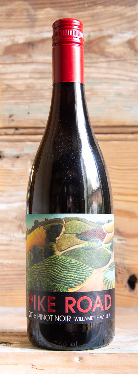 Pike Road Pinot Noir 2016 - Origin: OregonRetail: $24.95 | Sale $22.45Outside the town of Yamhill on the western edge of the Willamette Valley, the Campbell Family planted their first 20 acres of vines in 1974. At the time, there were just a handful of winegrowers in Oregon. Today they own over 350 acres of vines in the Northern Willamette Valley. Complex aromas of black cherry, dried herbs, floral and spice create an alluring nose. On the palate, the wine is full-bodied with a silky mouthfeel and flavors of blackberry and herbs. It is exceptionally balanced with velvety tannins, lively acidity and a lingering finish that pairs beautifully with classic Pinot Noir dishes including Oregon lamb, duck, pork, grilled salmon and aged cheeses.Pinot Noir 90 Points Vinous | 90 Points James Suckling | 90 Points Robert Parker