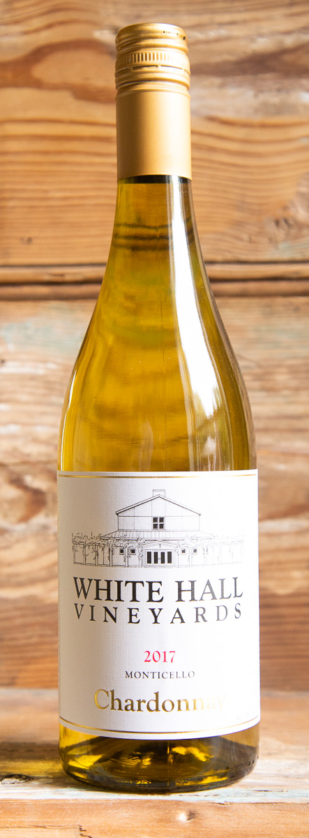 White Hall Chardonnay 2017 - Origin: Monticello Retail: $19.95 | Sale: $17.95Established in 1992, White Hall has grown from 6 acres planted to over 48 acres currently under vine. The Champ family has taken great pride over the years in being stewards of the land and creating wines that are unique to the beauty and richness of the terroir. This is a well-balanced Chardonnay with flavors of apples, pears, hints of lemon citrus, nutmeg and a crisp, spicy finish. Fermented and aged in stainless steel with a small amount in neutral oak barrels, this Chardonnay the perfect balance of fruit and acidity. Pair this with Virginia's abundant seafood, including crab, clams, and oysters, as well as any soft or semi-soft cow's milk cheese. Chardonnay