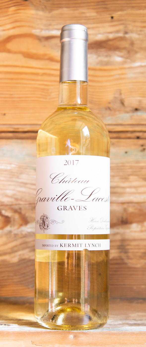 Chateau Graville-Lacoste Graves 2017 - Origin: FranceRetail: $22.95 | Sale: $20.65This somewhat atypical Graves is distinguished by its high percentage of Sémillon, sourced from vineyards in the greatest white wine terroir in all of Bordeaux — the Haut-Barsac. The average age of vines used to make this wine is between 45-48 years old, creating a rich, full, aromatic mid-palate to complement the clean finish. There is no better way to enjoy this crisp, invigorating wine than with a platter of fresh seafood. Raw oysters, fresh shrimp, clams, scallops, crab, langoustines...the more the merrier!75 Sémillon | 20 Sauvignon Blanc | 5 Muscadelle