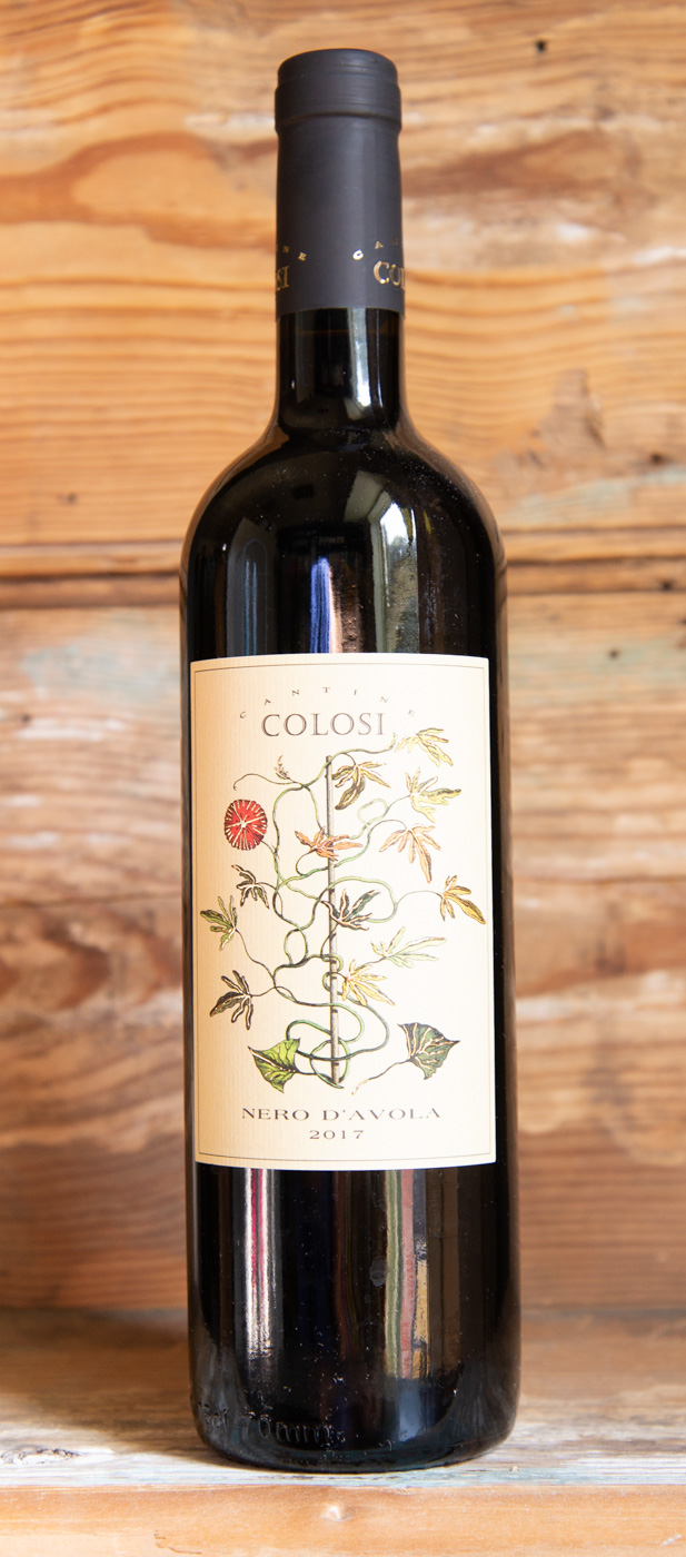 Cantina Colosi Nero d'Avola 2017 - Origin: ItalyRetail: $17.95 | Sale: $16.15Run by a father and son team, Cantina Colosi is one of Sicily`s most quality-conscious producers with vineyards planted on the volcanic soils of Northern Sicily and on the island of Salina. The varietal `Nero d`Avola` is one of the most renowned red grape varieties grown indigenously in Sicily. Juicy black cherry with white pepper notes alongside smooth tannins finish with beautiful acidity. This is a perfect pairing with you red meats, pasta with tomato sauce, and aged cheeses. Nero d'Avola