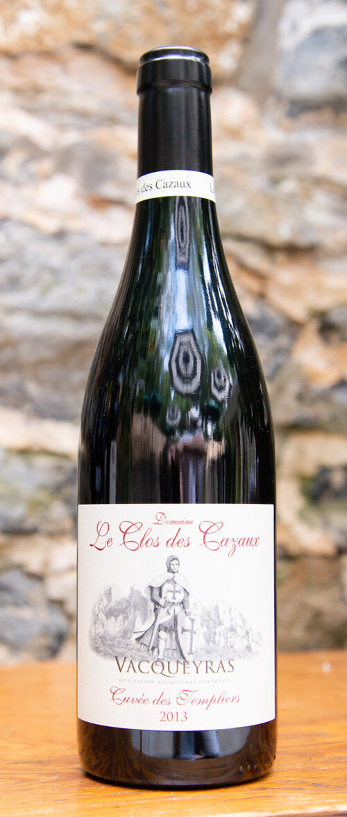 """Le Clos des Cazaux """"Cuvée des Templiers"""" Vacqueyras 2013 - Origin: FranceRetail: $25.95 