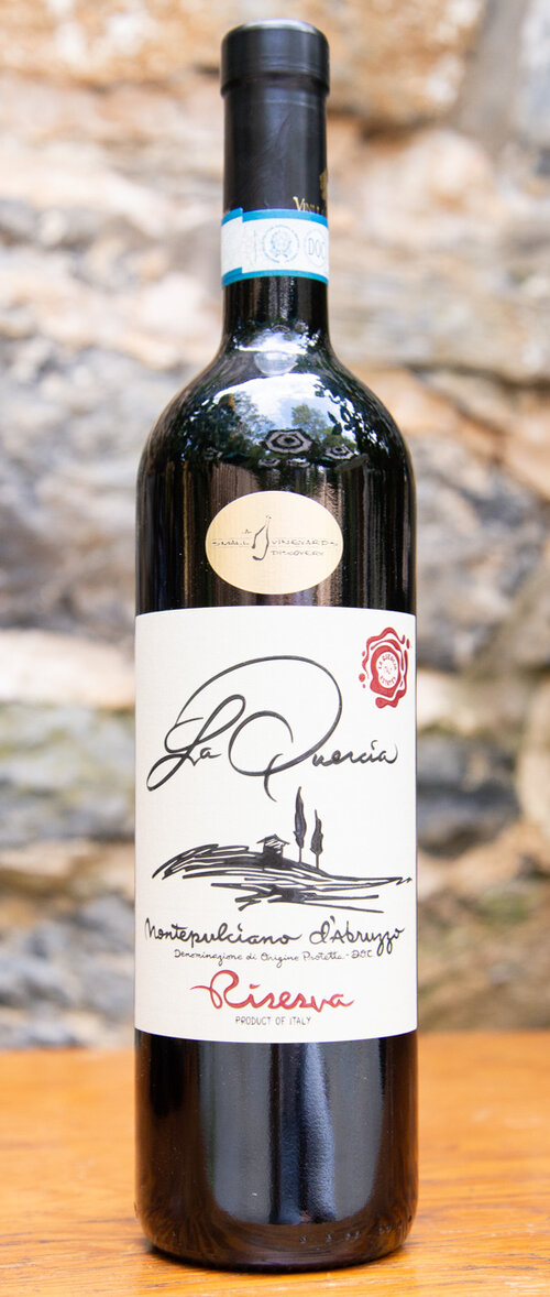 La Quercia Montepulciano d'Abruzzo Riserva 2015 - Origin: ItalyRetail: $25.95 | Sale: $23.35Made by winemaker Antonio Lamona, the result is one of the best quality, most expressive and balanced Montepulcianos around. Full-bodied, smooth, and packed with notes of blackberry, wild cherry, and spice, this is a flavorful and versatile wine that will pair with anything you put on the table. It has a fun combination of fruit and earthy, meaty rusticity. Montepulciano Organic.