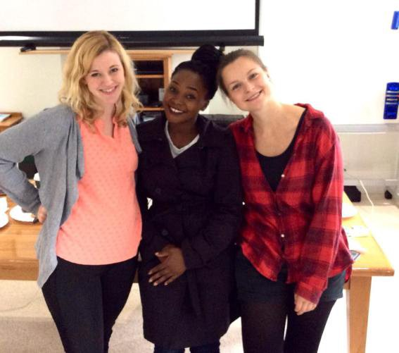 Myself, Viola (a member of Young Humanists International from Uganda) and Marieke
