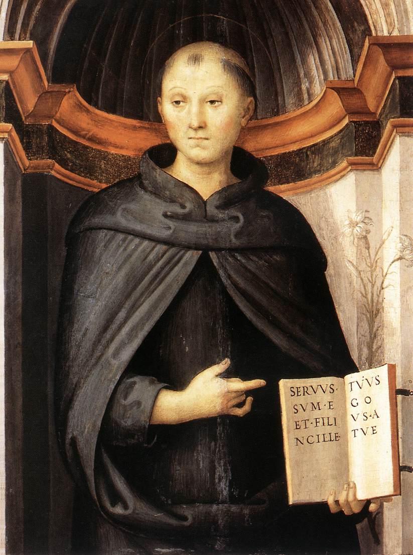 San Nicola da Tolentino - Painting by Perugino, 1507