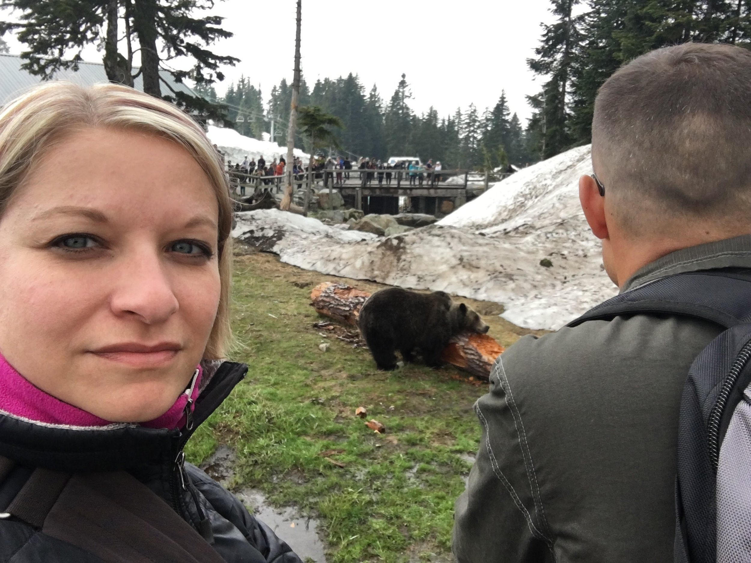 Thought it would be appropriate to share this picture of me at a bear habitat on Grouse Mountain in Vancouver. Bears are beautiful creatures. I picture this guy when I think about my bear brain.