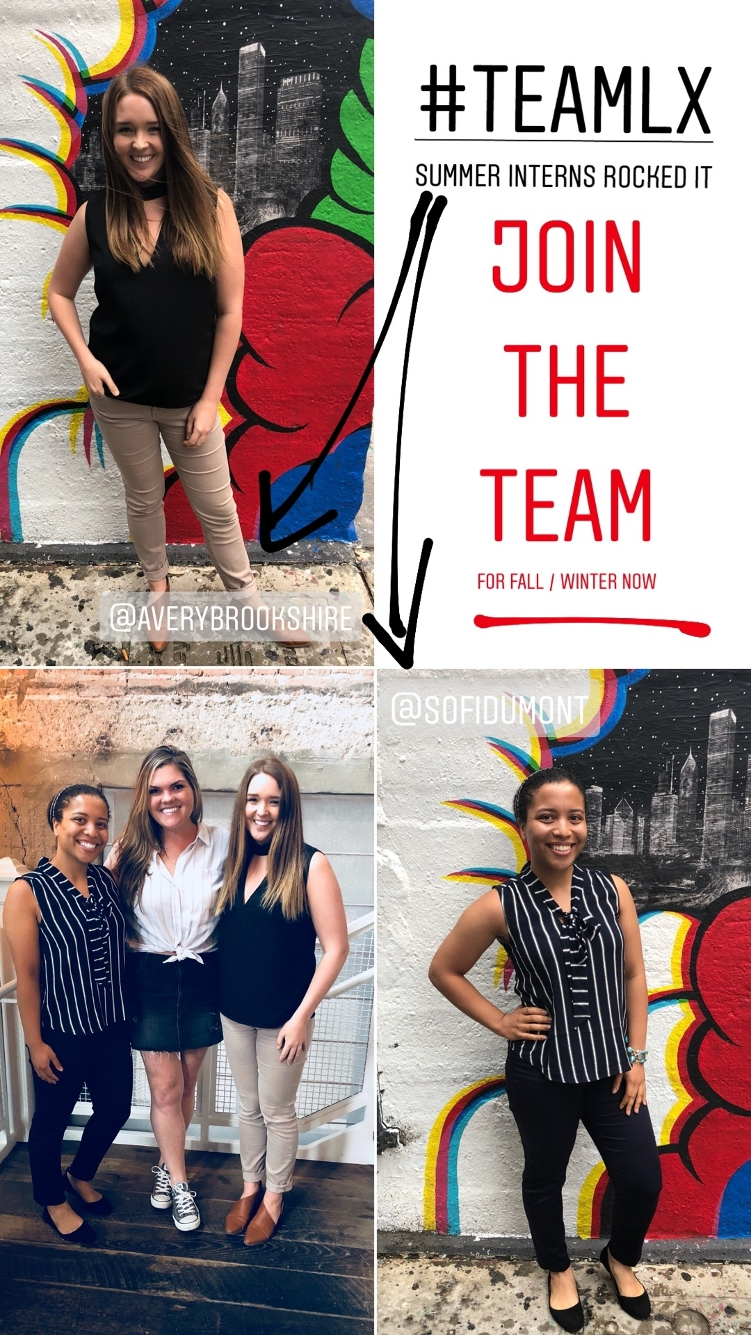 Our incredible Summer 2018 Interns with Founder Chantel