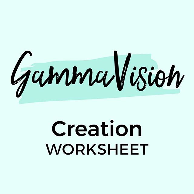 Our Gamma Vision worksheet [Coming Soon!] was created to help you organize your thoughts and ideas and really envision your dream life and create real goals to work towards. . We are SO excited for you to work through it yourself and hear your #GammaVision. .