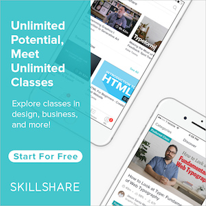 We use  Skillshare * to up level our knowledge and skills. They have classes for everything a creative or entrepreneur could need. I love that the classes are videos and most have prompts and resources to take action with.  Click here * to sign up for one month of unlimited free classes.