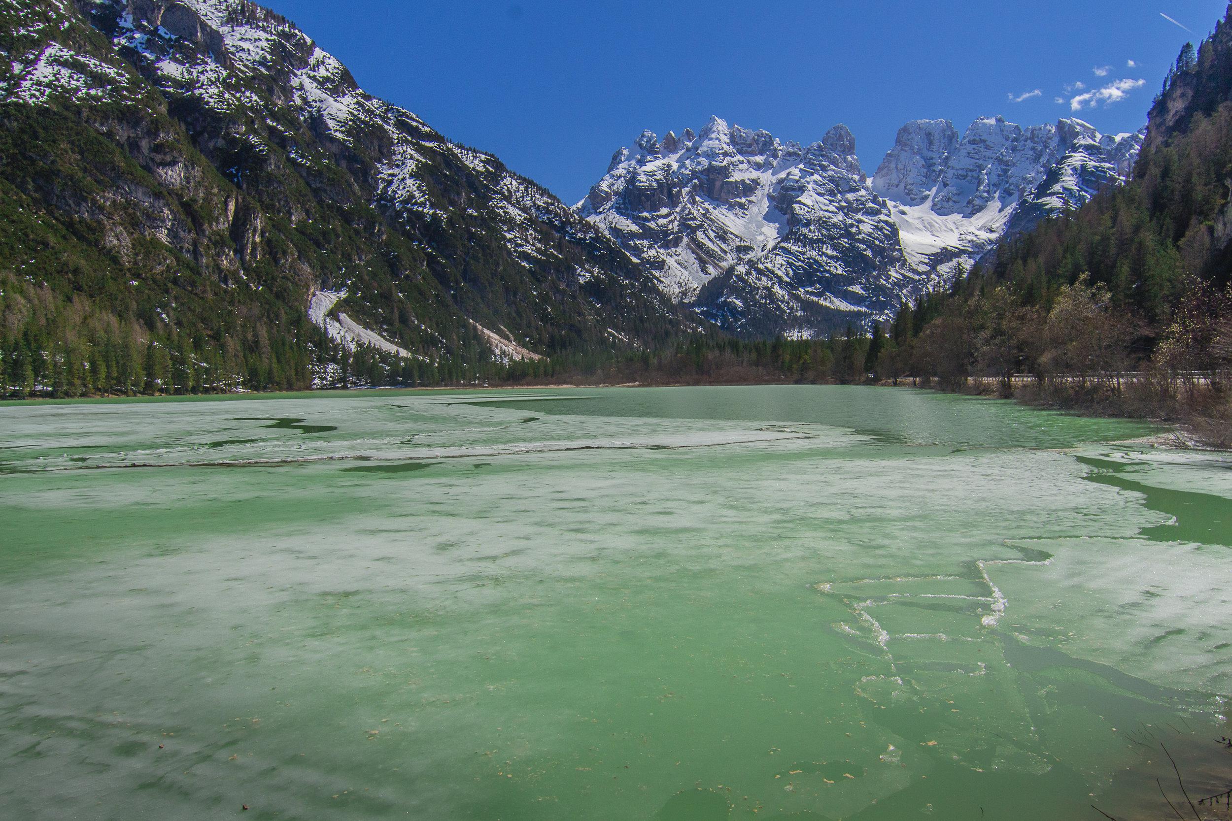 Lago di Landro, Monte Cristallo, Guillaume Cavalli (28 avril 2013)