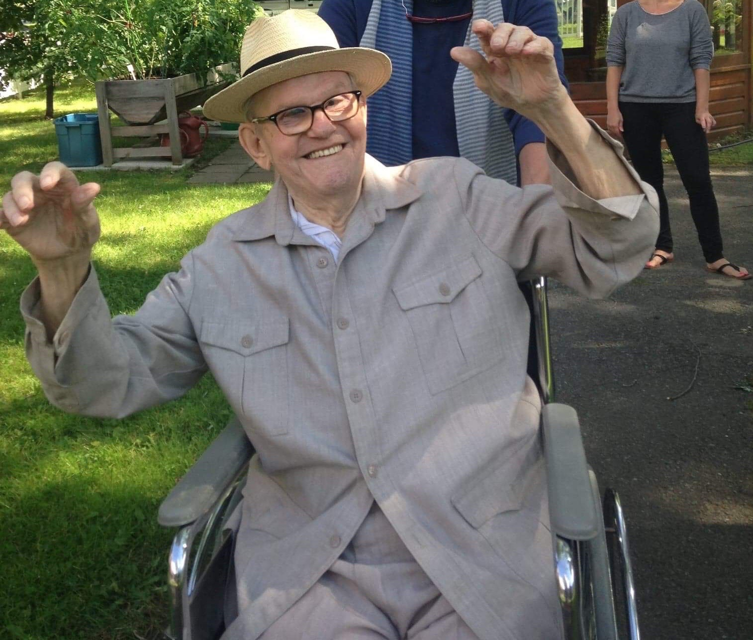 Mon père, le jour de ses 98 ans