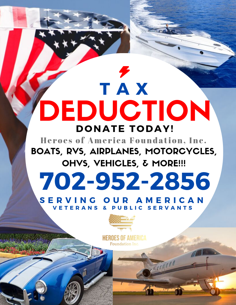 Tax Deductible Vehicle & Tangible Donations - Your generous donation allows us to continue our mission!