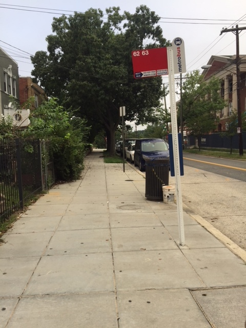 The beginning of my morning commute to Banneker, the #62 bus stop.