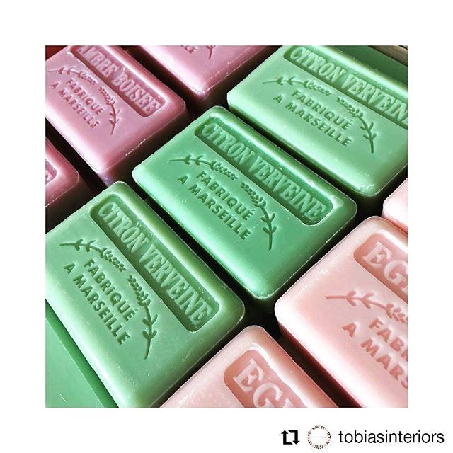 #Repost @tobiasinteriors • • • • • • Beautiful French market soaps.  #frenchsoaps #frenchmarketsoap #independant #smallbusiness #handmadesoap #artisansoap #verbenasoap #barsoap #noanimaltesting #frenchsoapwholesale  #bulksoap #soapsupplier #zerowaste #plasticfree #noplastic