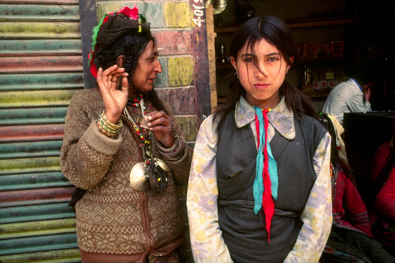 Woman and School Girl - Leh, Ladakh