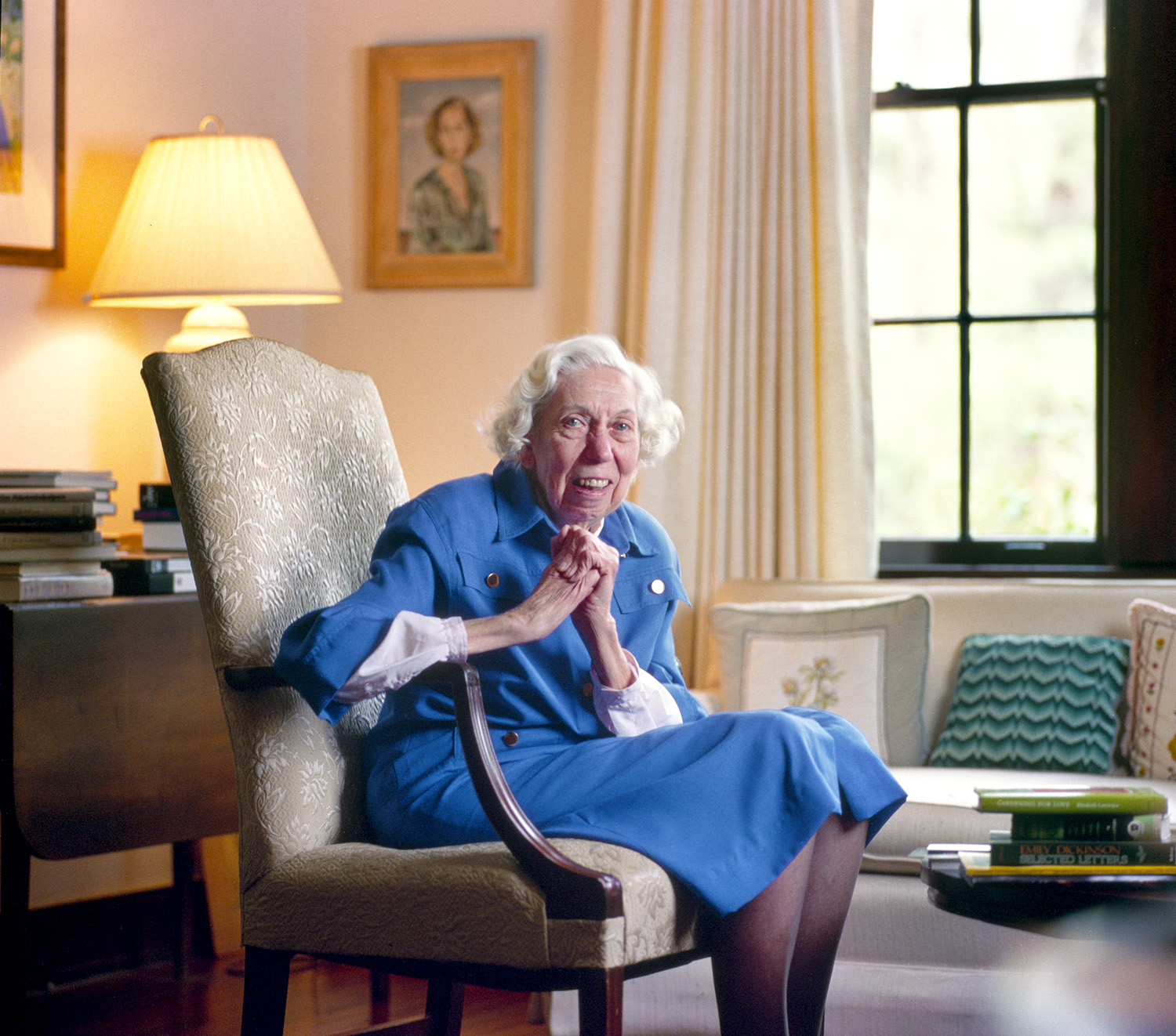 Eudora Welty, Writer 1988 - A short story writer and novelist who wrote about the American South. Welty won the Pulitzer Prize in 1973. Photographed at her home in Jackson, Mississippi in the summer of 1988.
