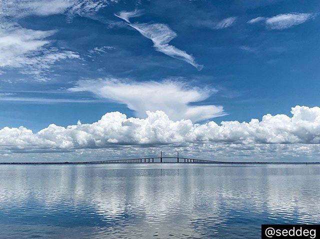 Let's always remember to reflect on the paradise in which we live! • • •  Repost | According to the US Census Bureau, Saint Petersburg, FL, on the Pinellas  peninsula between Tampa Bay and the Gulf of Mexico, has 61.7 square miles of land and 75.9 square miles of water. This is one coastal view that never disappoints...